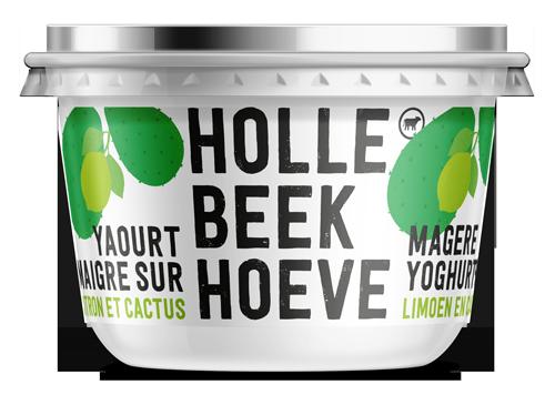 Limoen-cactus, magere yoghurt in potje van 180g.